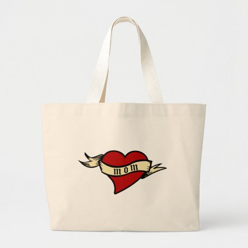 Mom Heart Tote Mother's Day Canvas Bags