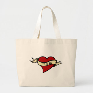 Mom Heart Tote Mother's Day Jumbo Tote Bag
