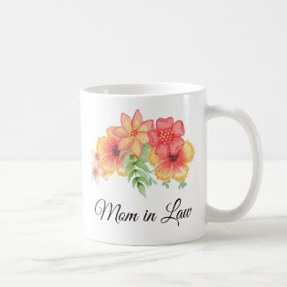 Mom in Law Floral Bouquet Personalized  Mug
