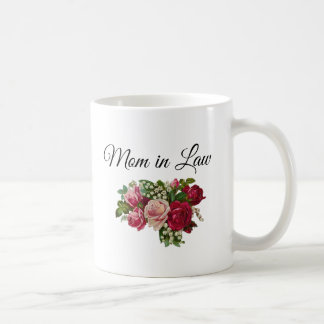 Mom in Law Floral Roses Bouquet Mug