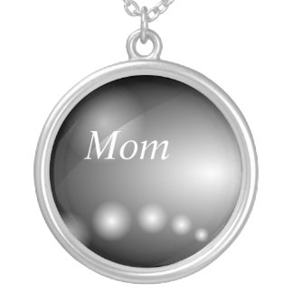 Mom, Industrial black steel abstract necklace
