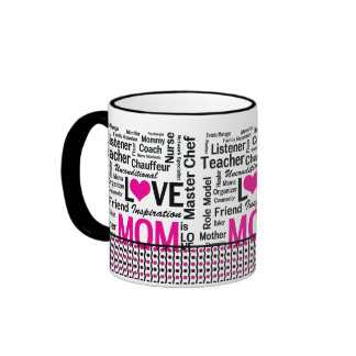 MOM is LOVE, Mother's Day, Mum's Birthday Mugs