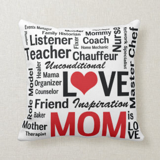 Mom is Love Pillow for Multitalented Mom Cushions