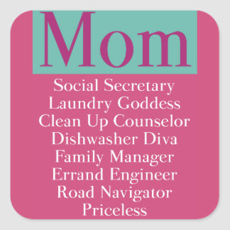Mom - job description stickers