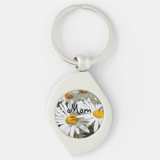 Mom Keychains Stocking Stuffers Daisy Flowers