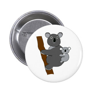 Mom koala 6 cm round badge