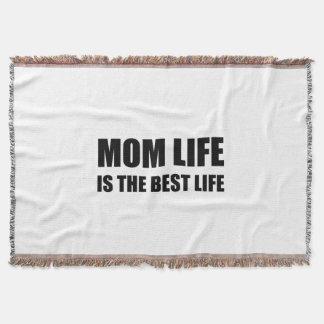 Mom Life Best Life Throw Blanket
