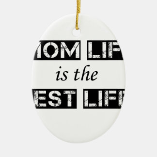mom life is the best life ceramic oval decoration