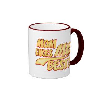 Mom Likes ME Best Ringer Coffee Mug