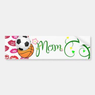 Mom Love Floral Heart Blossom Vines Destiny Sports Car Bumper Sticker