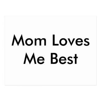 Mom Loves Me Best Card Postcard