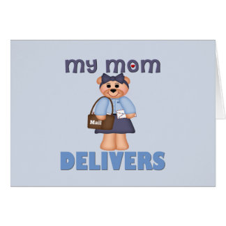 Mom Mail Carrier Greeting Card