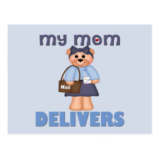 Mom Mail Carrier Postcard