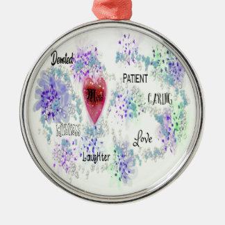 mom metal ornament