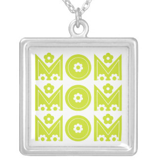 Mom Mother s Day lime text design custom necklace