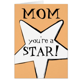 Mom, Mum: You are a Star! With Comic-Book Look Card
