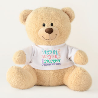Mom Names Mother's Day Personalized Teddy Bear