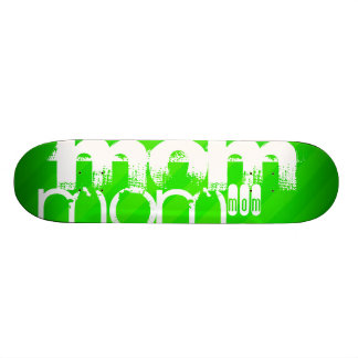Mom; Neon Green Stripes Skateboard Decks