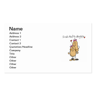 Mom - Nuts About My Daughter T-shirts and Gifts Pack Of Standard Business Cards