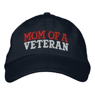 MOM OF A VETERAN EMBROIDERED BASEBALL CAP