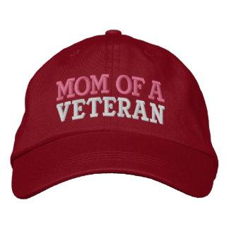MOM OF A VETERAN EMBROIDERED HATS