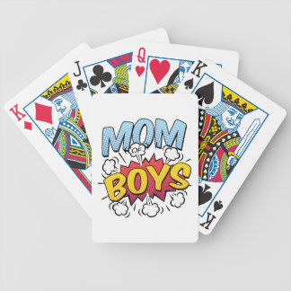Mom of Boys Mother's Day Comic Book Style Bicycle Playing Cards
