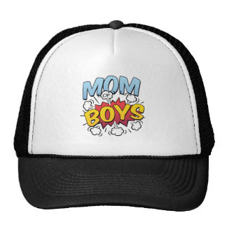 Mom of Boys Mother's Day Comic Book Style Cap
