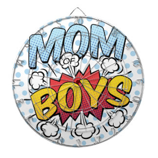 Mom of Boys Mother's Day Comic Book Style Dartboards