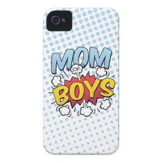 Mom of Boys Mother's Day Comic Book Style iPhone 4 Cover