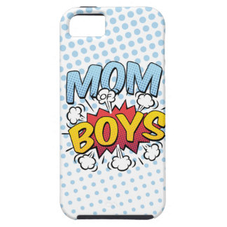 Mom of Boys Mother's Day Comic Book Style iPhone 5 Case