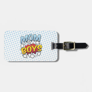Mom of Boys Mother's Day Comic Book Style Luggage Tag