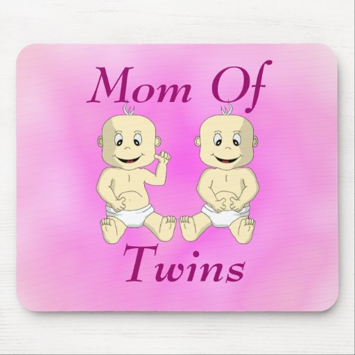 Mom Of Twin Babies Mousepad