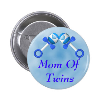 Mom Of Twin Boys Button
