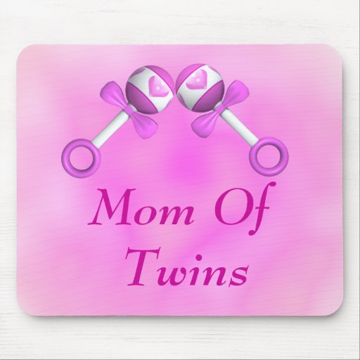 Mom Of Twin Girls Mousepad