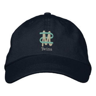 Mom of Twins [2-Drk] Embroidered Hats