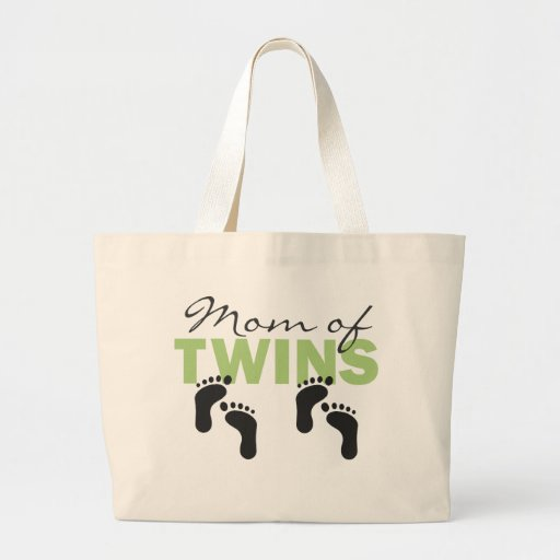 Mom of Twins Tote Bags