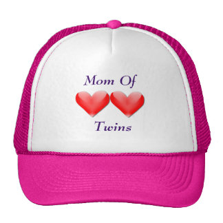 Mom Of Twins Double Hearts Hat