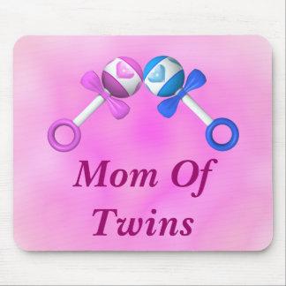 Mom of Twins Mousepad (boy/girl)