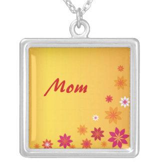 Mom Orange Flowers Necklace