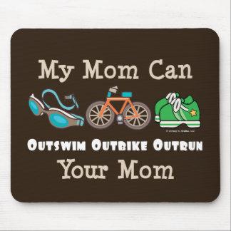 Mom Outswim Outbike Outrun Triathlon Mousepad