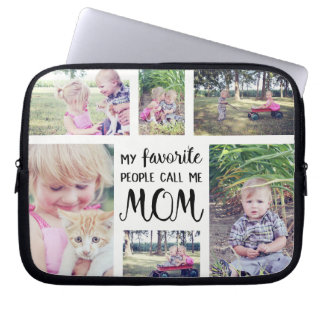Mom Photo Collage My Favorite People Call Me Mom Laptop Sleeve