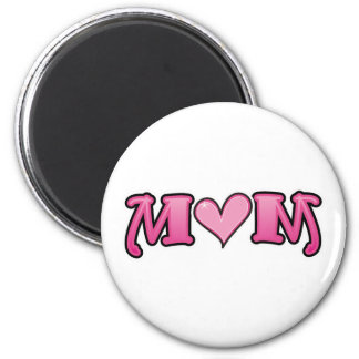 Mom Pink Heart Magnets