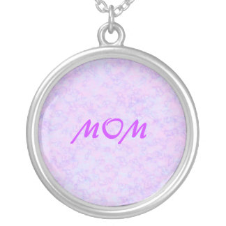 MOM pink pastel marbled necklace