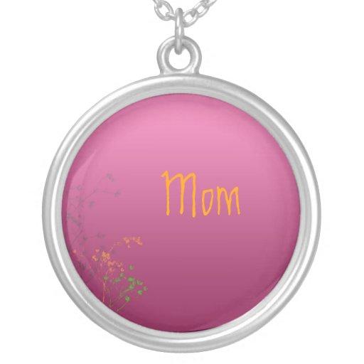 Mom, retro flowers necklace