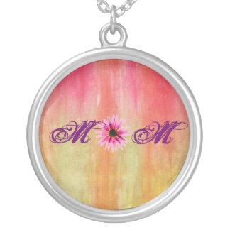 Mom Round Pendant Necklace