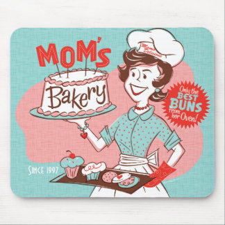 Mom s Bakery Retro Mother s Day Mousepad