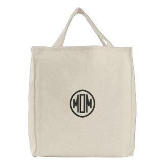 MOM Shoulder Bag Embroidered Tote Bag
