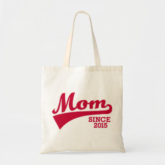 Mom since 2015 canvas bag