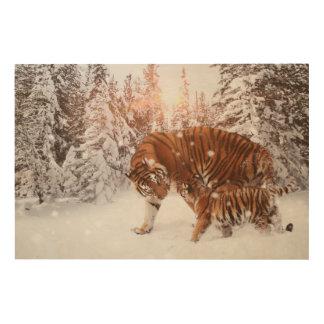 Mom & son tiger wood print