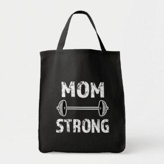 Mom Strong Saying  womens fitness bag